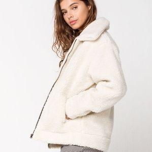 NWT Vans Snow Out Sherpa Fleece Jacket Coat